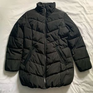 Calvin Klein Stretch Mid-Length Down Puffer Coat